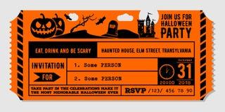 Винтажный шаблон дизайна приглашения партии хеллоуина иллюстрация вектора