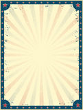 Винтажный шаблон плаката цирка Стоковая Фотография