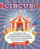 Винтажный шаблон плаката цирка Стоковые Фотографии RF