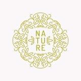 Винтажный шаблон для естественных косметик Стоковое Изображение