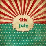 Винтажный шаблон для 4-ое -го июль Стоковые Изображения