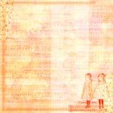 Винтажный шаблон scrapbook девушек Стоковая Фотография