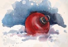 Винтажный шарик рождества Стоковое Изображение RF