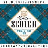 Винтажный шотландский плакат Стоковые Фото