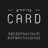 Винтажный шрифт восковки стиля Стоковое Фото