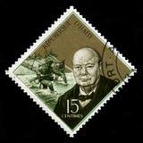 Винтажный штемпель почтового сбора Гаити с портретом Уинстона Черчилля Стоковые Фотографии RF