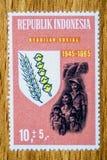 Винтажный штемпель почтового сбора Индонезии Стоковые Фотографии RF