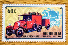 Винтажный штемпель почтового сбора Монголии Стоковые Изображения