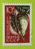 Винтажный штемпель почтового сбора России Стоковое Изображение RF