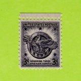 Винтажный штемпель почтового сбора США неиспользованный стоковая фотография rf