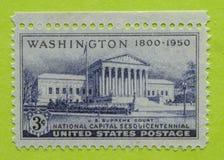 Винтажный штемпель почтового сбора США неиспользованный Стоковое Фото
