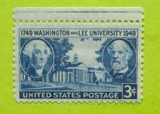 Винтажный штемпель почтового сбора США неиспользованный Стоковое фото RF