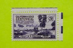 Винтажный штемпель почтового сбора США Стоковая Фотография