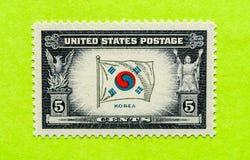Винтажный штемпель почтового сбора США стоковые изображения rf