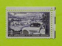 Винтажный штемпель почтового сбора США Стоковое Изображение