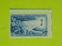 Винтажный штемпель почтового сбора США Стоковое Фото