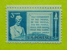 Винтажный штемпель почтового сбора США Стоковые Фотографии RF