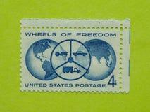 Винтажный штемпель почтового сбора США Стоковое фото RF