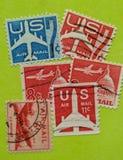Винтажный штемпель почтового сбора США Стоковое Изображение RF