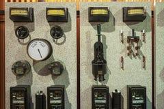 Винтажный щиток управления системой электропитания стоковое фото