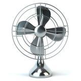 Винтажный электрический вентилятор изолированный на белой предпосылке Стоковые Фотографии RF