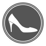 Винтажный ярлык ботинка женщин Стоковое Изображение RF