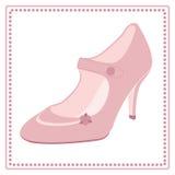 Винтажный ярлык ботинка свадьбы Стоковые Изображения