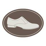 Винтажный ярлык ботинка людей Стоковое Изображение