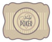 Винтажный ярлык диамантов покера Стоковая Фотография RF
