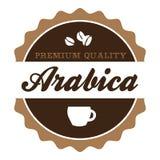 Винтажный ярлык кофе Arabica бесплатная иллюстрация
