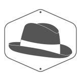 Винтажный ярлык шляпы человека s Стоковые Изображения RF