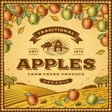 Винтажный ярлык яблок Стоковая Фотография