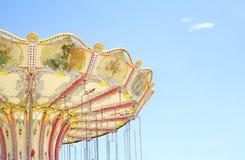 Винтажный carousel, космос бесплатной копии Стоковая Фотография