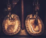 Винтажный insole ботинка формируя pres Стоковая Фотография