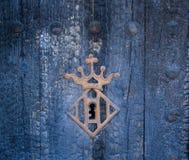 Винтажный keyhole с рамкой кроны стоковые фотографии rf
