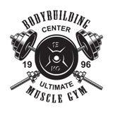 Винтажный monochrome шаблон логотипа фитнеса бесплатная иллюстрация