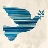 Винтажный multicolor голубь Стоковое Изображение RF