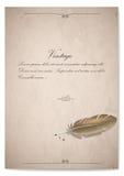 Винтажный quill на старой бумаге иллюстрация Стоковая Фотография