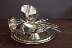 Винтажный silverware стоковая фотография