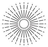 Винтажный sunburst знак также вектор иллюстрации притяжки corel бесплатная иллюстрация