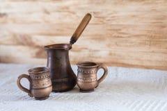 Винтажный turkish кофе Стоковая Фотография