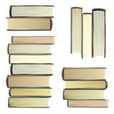 Винтажными вектор установленный книгами Концепция знания школы исследования Энциклопедия, библия изолированная иллюстрация руки к иллюстрация штока
