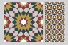 Винтажным плитки сделанные по образцу дизайном голубые Стоковое Фото