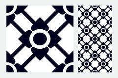 Винтажным плитки сделанные по образцу дизайном голубые Стоковые Фото