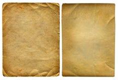 2 винтажных бумаги Стоковое Фото