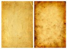 2 винтажных бумаги Стоковые Изображения