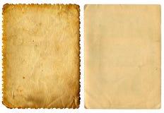 2 винтажных бумаги Стоковое фото RF