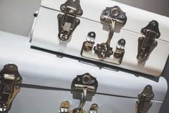 2 винтажных декоративных замка металла коробок Стоковые Фотографии RF