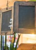 2 винтажных деревянных доски мела Стоковое Фото