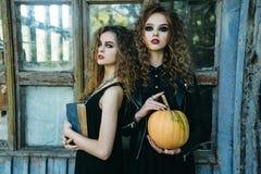 2 винтажных женщины как ведьмы Стоковое Изображение RF